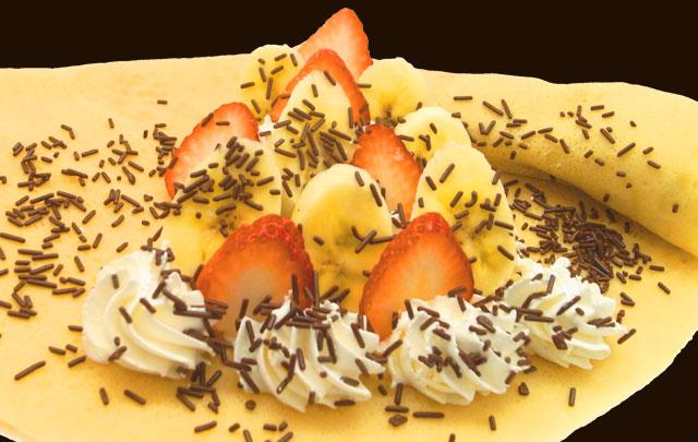 イチゴバナナスプレーチョコ生クリーム