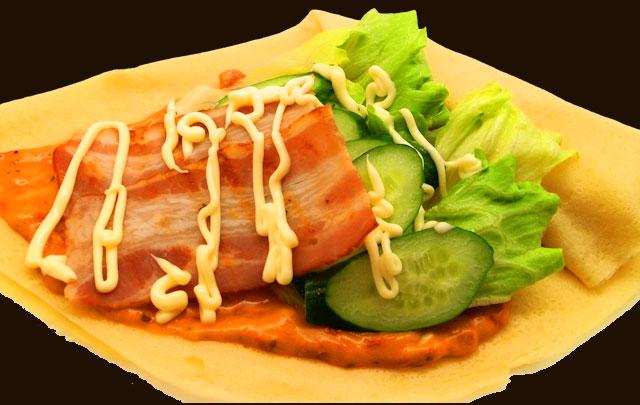 ベーコン野菜ピザ