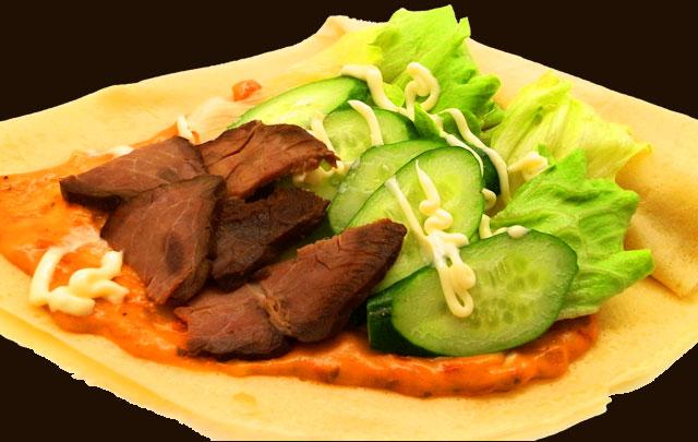 ローストビーフ野菜ピザ
